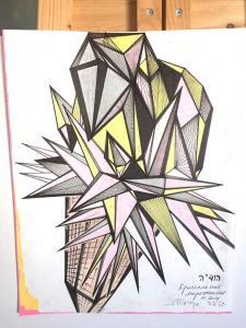 """Серия """"матриц-кристаллов"""". Мороженное кристалл как символ маленьких шагов в искусстве радости Бытия."""