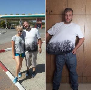 35 клограм за 3 месяца, фото до и полсе, мои личные результаты.