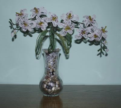 Бисероплетение схемы цветов орхидея - Делаем фенечки своими руками.