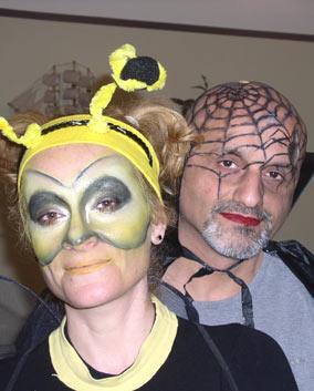 Грим на Пурим. Пчёлка и человек-паук. Визажист Флора.