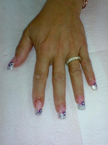 Дизайн ногтей жидкие камни и литье фото
