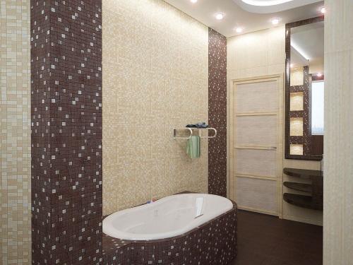готовые дизайны ванных комнат.  Интерьер комнаты.