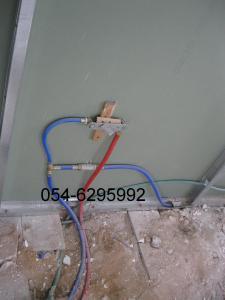 Разводка труб под гипсокартонные стены