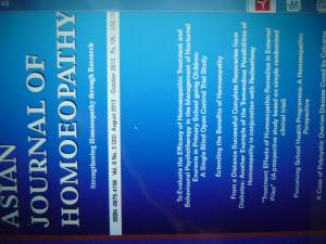 """ОБЛОЖКА ЖУРНАЛА """"Азиатский Журнал Гомеопатии"""" (Индия), в котором опубликована моя статья, отражающая то, чем я успешно занимаюсь -  сочетанием гомеопатии и радиэстезии для исцеления хронических больных..."""