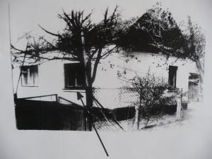 ДОМ МОИХ РОДИТЕЛЕЙ (Хмельницкая область, Украина). Стрелкой показано окно спальни. Мой отец умер от рака желчных протоков в 1994 г., за два года до моей эмиграции в США. Причиной, вызвавшей это смертельное заболевание,была так называемая геопатогенная зона, над которой располагалась кровать, где спал отец. Овладев впоследствии искусством радиэстезии, уже в США, я смог по этой фотографии и по плану (чертежу)спальни, то есть на расстоянии, ТОЧНО определить местоположение этой геопатогенной зоны. Я выяснил, что данная зона была небольшой по размерам и располагалась в проекции печени/жёлчных путей отца.Примечательно, что моя мать, кровать которой находилась рядом, но не была подвержена действию геопатогенной зоны, жива до сих пор (ей 89 лет).  Наукой установлено, что длительное (годы) нахождение над геопатогенными зонами неизбежно ведёт к развитию онкологических заболеваний.   И,наконец,ещё одна примечательная деталь: вторая геопатогенная точка в этой спальне пришлась на крайнюю створку оконной коробки, результатом чего было постоянное образование (рост)грибков и отец был вынужден каждые несколько лет удалять сгнивший участок оконной коробки, заменяя его новым. Уже здесь, в Нью-Йорке, мне однажды довелось заметить ОЧЕНЬ ОБИЛЬНЫЙ рост грибков на дверной коробке одного из магазинов как следствие действия геопатогенной зоны: я это сфографировал и смогу предложить это увидеть посетителям данного веб-сайта.
