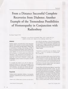 Моя статья, недавно опубликованная в одном из гомеопатических журналов (Индия). Желающим могу выслать бесплатно оттиск этой статьи...