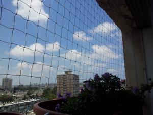 Установка сетки на балкон в Холоне.