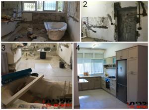 Полный ремонт кухонной комнаты включая кухню ремонты в хайфе
