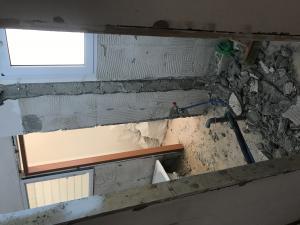 демонтаж стены между ванной и туалетом