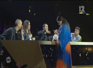 Моё предсказание для Израильской звезды  Керен Пелес во время сьёмки передачи. Она осталась мной очень довольна и она была единственная в звёздном жури , которая поставила мне лайк на мою песню Манго.,в отборе на Евровидение 2018. Израиль.