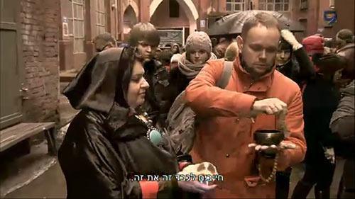 на съёмках передачи Чёрное и Белое-2 сезон в Москве