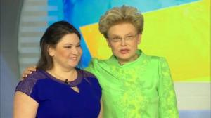 Я и Елена Малышева -на съёмках