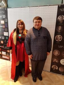 Я и Данис Глинштейн (финалист Битвы Экстрасенсов на телеканале Тнт)