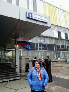 В Останкино в Москве на съёмках