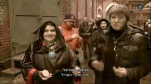 на съёмках передачи Чёрное и Белое-2 сезон