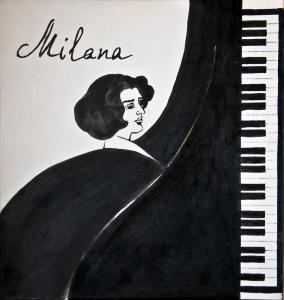 оформление пластинки для композитора Миланы