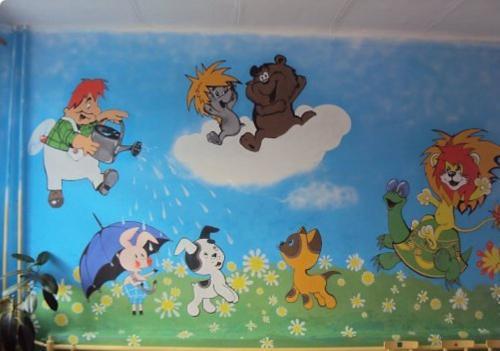 Оформление в группе стен в детском саду