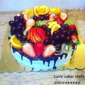 Торт без мастики, с бельгийским шоколадом и свежими фруктами