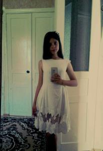 Платье с хлопка.работа ученицы 13 лет