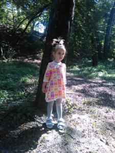 Американский трикотаж -цветы.Туника детская