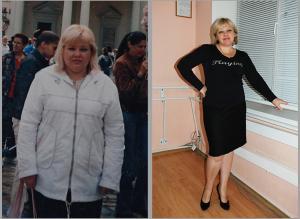 Моя клиентка - Москаленко Виктория, 49 лет. Программа БодиФлекс + индивидуальная схема питания. За 3 месяца - 11 кг, - 45 см, - 17 лет биолог. возраста. Нормализация АД, улучшение состояния гормональной системы ( без медикаментозного лечения исчезла миома матки).