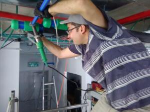 Работаем с полипропиленовыми трубами, производство Германия. Срок службы этих труб 50 лет!
