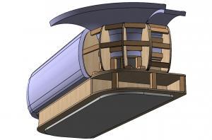 3d модель дивана в поролоне