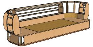 3d модель каркаса дивана