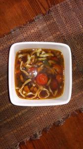 Диетический суп мисо. Для улучшения микрофлоры кишечника, с низкокалорийной лапшой.