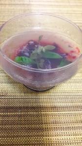Десерт из агар-агара.Это такая очень полезная желирующая водоросль.