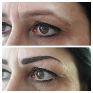Перманентный макияж: до и после.