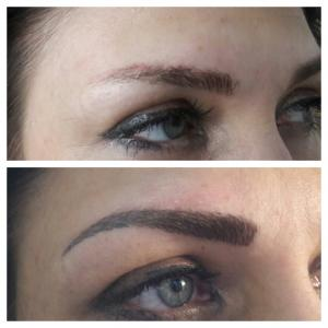 Перманентный макияж: волосковый метод;