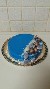Ванильно творожный торт с глазурью, очень вкусный и оригинальный. Для заказа обращайтесь 0523120925 Наталья.
